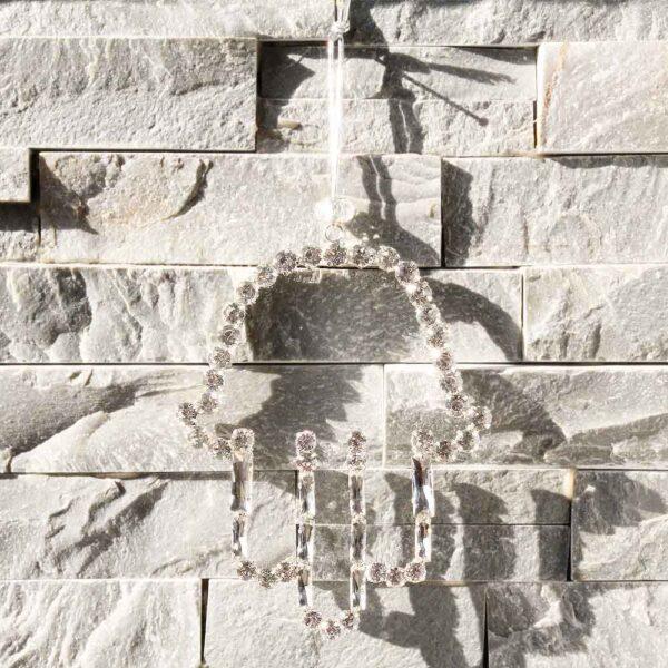 תליון חמסה לקיר עם קריסטלים