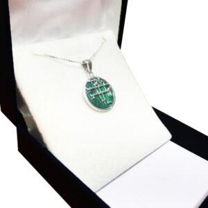 שרשרת אני לדודי ודודי לי מכסף סטרלינג 925! משובץ אבן מלאכית אמיתית!