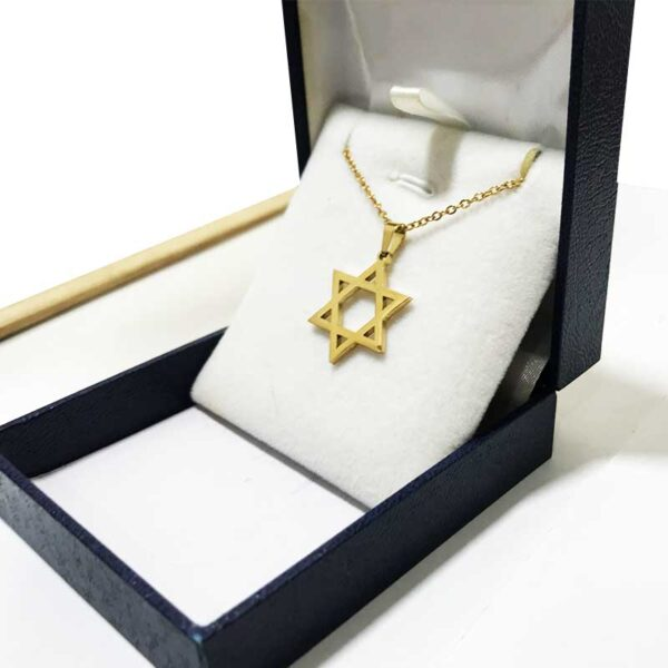 שרשרת סטיל מגן דוד קלאסית! איכות מעולה! עם ציפוי זהב חזק!