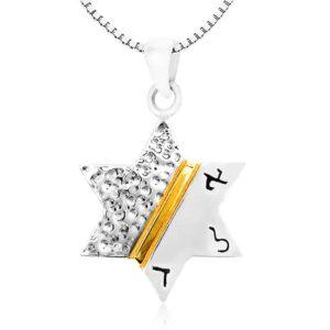 תליון מגן דוד עם הכיתוב:אלד מכסף 925 אמיתי עם שליח עד הבית. מחיר מבצע מיוחד