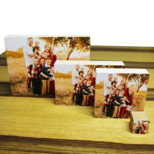 תמונה על בלוק עץ. הדפסה איכותית על גבי 4 רביעיית בלוקי עץ. מחיר מבצע כולל שליח