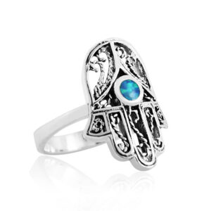 טבעת חמסה מכסף 925