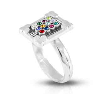 טבעת חושן מכסף 925 אמיתי מהודר ויוקרתי. מחיר מבצע עם שליח עד הבית!