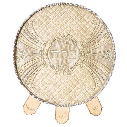 סט פסח גדול מפואר משובץ באבנים 4 חלקים כיסוי פסח+אפיקומן. מחיר מבצע