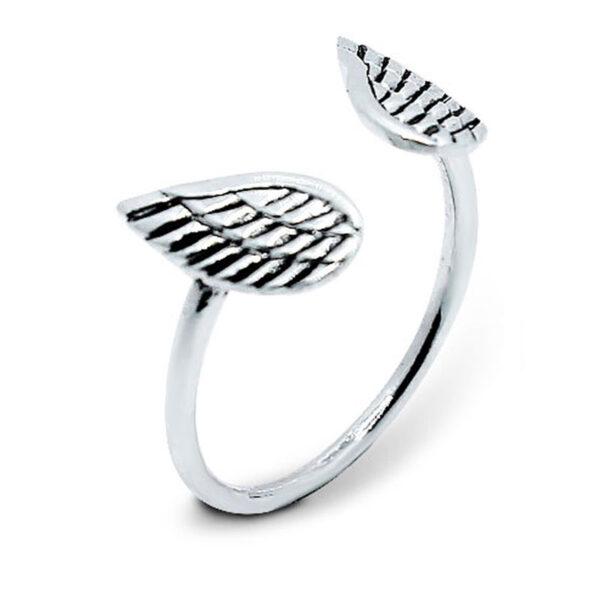 טבעת מכסף 925 כנפי מלאכים מהממת. מידה חופשית!