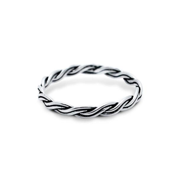 טבעת מסולסלת מכסף 925. מחיר מבצע מיוחד