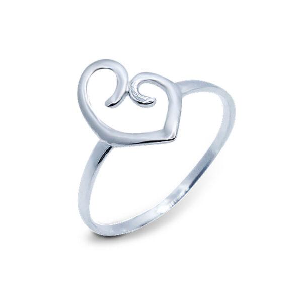 """טבעת """"לב"""" מכסף 925 מהממת. מחיר מבצע מיוחד"""