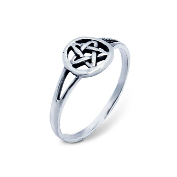 """טבעת """"פנטגרם"""" כוכב חמש צלעות מכסף 925 מהממת. מחיר מבצע מיוחד"""