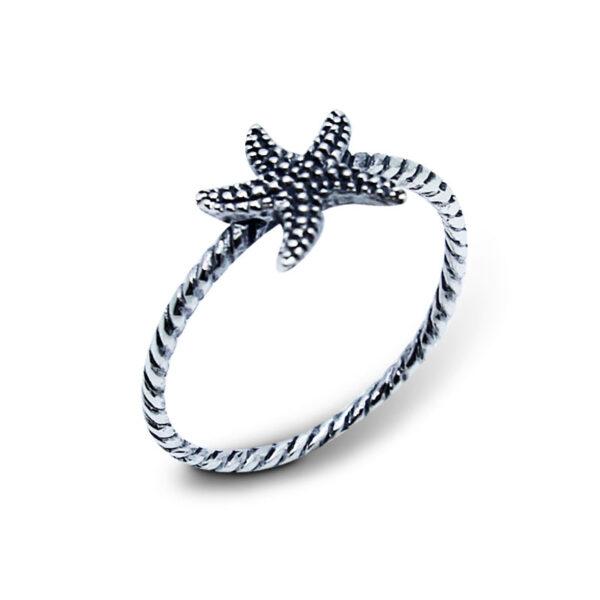 """טבעת """"כוכב ים"""" עם עיטורים מכסף 925 מהממת. מחיר מבצע מיוחד"""