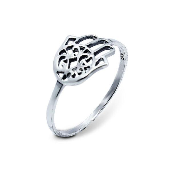"""טבעת """"חמסה"""" מכסף 925 מהממת. מחיר מבצע מיוחד"""