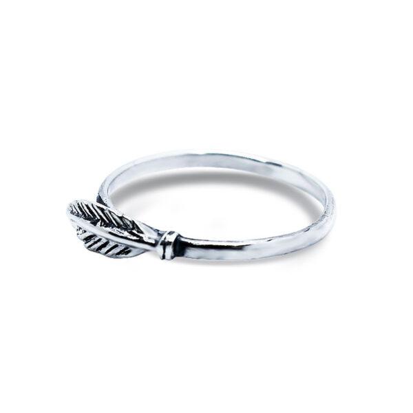 """טבעת """"נוצה"""" מכסף 925 מהממת. מחיר מבצע מיוחד"""