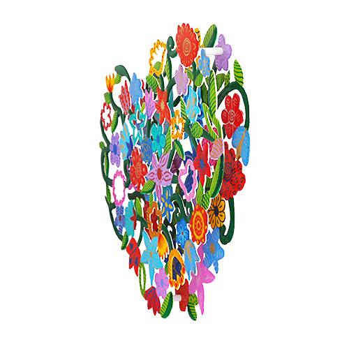 פריט גדול ייחודי ומרהיב לתלייה על הקיר שמגיע ובצבעים שונים ומושך את תשומת הלב. מוצר זה הינו מתנה נהדרת לקישוט מושלם לבית/עסק