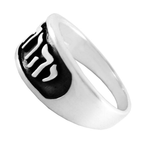 """טבעת """"יהוה"""" מכסף סטרלינג 925 מהממת לגבר או לאישה. מחיר מבצע מהיצרן לצרכן. מתנות ישראל"""