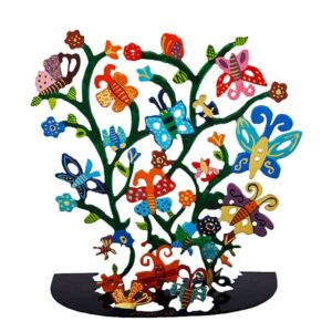 סטנד פרפרים ופרחים ( 17.5 * 19 * 8.5 ס