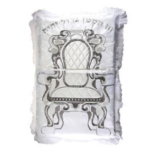Необычная подушка для альянса атласа с дентальным покрытием, Толстая серебряная вышивка