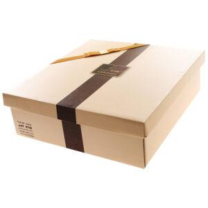 קופסת מתנה מהודרת לחנוכיות זכוכית.